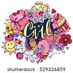 hand drawn doodle vector set of ... | Shutterstock .eps vector #529326859