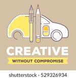 vector creative retro color... | Shutterstock .eps vector #529326934