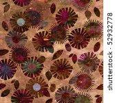 art floral ornament grunge... | Shutterstock . vector #52932778
