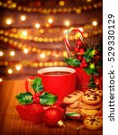 merry christmas greeting card ... | Shutterstock . vector #529330129