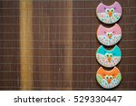 beautiful painted gingerbread | Shutterstock . vector #529330447