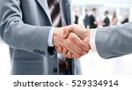 closeup of handshake as a sign... | Shutterstock . vector #529334914