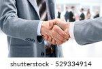closeup of handshake as a sign... | Shutterstock . vector #529334914