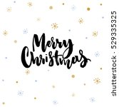 merry christmas text. black... | Shutterstock .eps vector #529335325