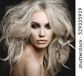 fashion studio portrait of... | Shutterstock . vector #529335919