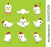 cute hen 3d cartoon character...