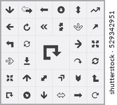arrows icons universal set for... | Shutterstock . vector #529342951