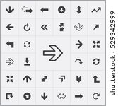 arrows icons universal set for... | Shutterstock . vector #529342999