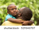 loving father comforting his... | Shutterstock . vector #529343707