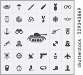tank icon. army icons universal ... | Shutterstock . vector #529343869