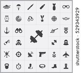 army icons universal set for... | Shutterstock . vector #529343929