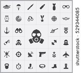 army icons universal set for... | Shutterstock . vector #529344085
