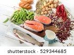 foods highest in vitamin b1.... | Shutterstock . vector #529344685