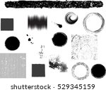 grunge design elements . brush... | Shutterstock .eps vector #529345159