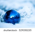 christmas winter background.... | Shutterstock . vector #529350235