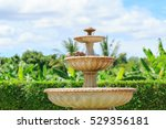 Close Up Fountain In The Garden
