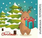 reindeer character christmas... | Shutterstock .eps vector #529356931