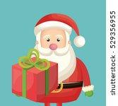 happy merry christmas santa... | Shutterstock .eps vector #529356955