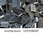 heap of different smartphones.... | Shutterstock . vector #529358005
