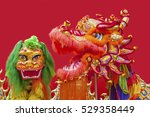 Lion Dance Costume Used During...