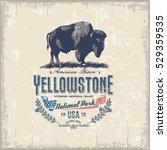american bison  national park... | Shutterstock .eps vector #529359535