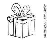 gift box. vector outline... | Shutterstock .eps vector #529360609