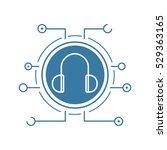 digital music flat linear long... | Shutterstock .eps vector #529363165