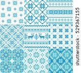 set of traditional christmas... | Shutterstock .eps vector #529367155