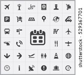 calendar icon. airport icons