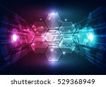 abstract digital technology... | Shutterstock .eps vector #529368949