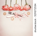 romantic dinner background with ... | Shutterstock . vector #529372534