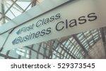 first class and business class... | Shutterstock . vector #529373545