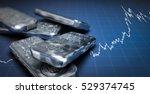 3d illustration of silver... | Shutterstock . vector #529374745