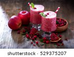 fresh blended cranberry... | Shutterstock . vector #529375207