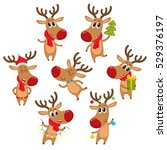 cute and funny christmas...   Shutterstock .eps vector #529376197