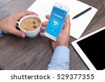 e learning concept on screen   Shutterstock . vector #529377355