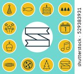 set of 12 holiday icons. can be ...