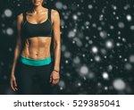 sport. woman sport body strong... | Shutterstock . vector #529385041