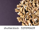 big shelled walnuts background | Shutterstock . vector #529390639