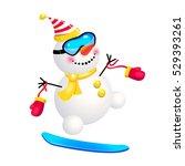 snowman on a snowboard....