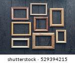 vintage frames on old wooden... | Shutterstock . vector #529394215