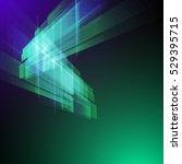 techno geometric vector  modern ... | Shutterstock .eps vector #529395715