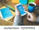 credit history concept on screen | Shutterstock . vector #529399501
