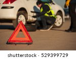 car breakdown. male technician... | Shutterstock . vector #529399729