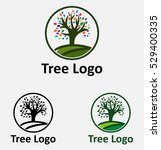 tree with leaves nature logo... | Shutterstock .eps vector #529400335