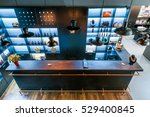 interior of a modern reception... | Shutterstock . vector #529400845