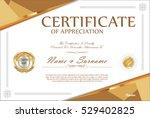 certificate retro design... | Shutterstock .eps vector #529402825