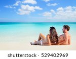happy couple relaxing sun... | Shutterstock . vector #529402969