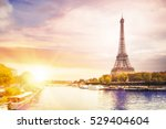 romantic sunset background.... | Shutterstock . vector #529404604