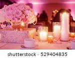 lighted candles stand on the... | Shutterstock . vector #529404835